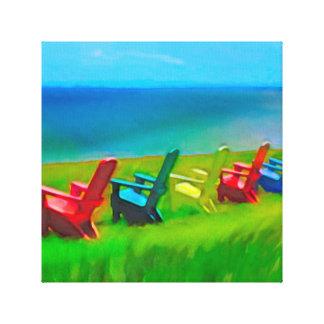 Küsten-Gartenstühle Leinwanddruck