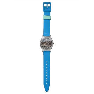Küsten-Hafen und Segelboote Armbanduhr