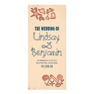 Küsten-Hochzeitsprogramm des Seeseilknotens Werbekarte