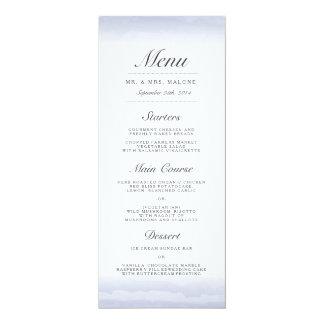 Küsten-Marine-Hochzeits-Abendessen-Menü 10,2 X 23,5 Cm Einladungskarte