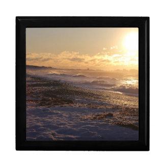 Küsten-Sonnenaufgang-Schmuckkästchen Erinnerungskiste