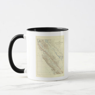 Küsten-Strecken, die San- Andreasriß zeigen Tasse