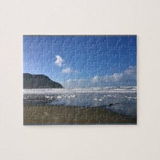Küsten-Ufer im Winter Puzzle