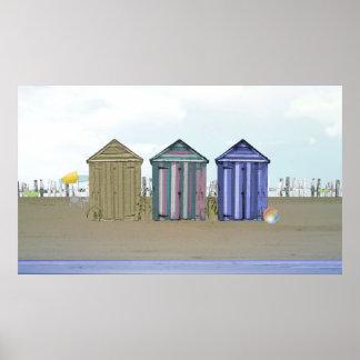 Küsten-und Strand-Hütten-Kunst-Plakat Poster