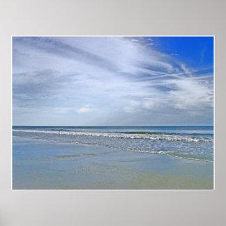 Küsten von Eichen-Insel Poster