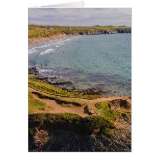 Küstenansicht Whitesands Bucht Pembrokeshire Wales