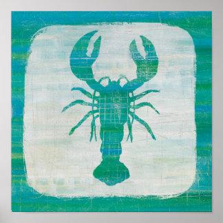 Küstenaqua-Hummer der kunst-| Poster