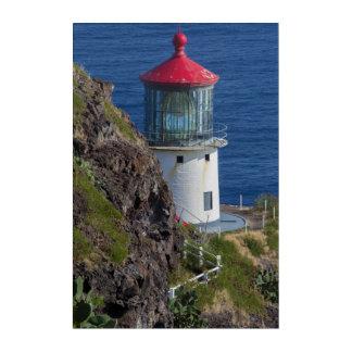 Küstenleuchtturm, Hawaii Acryl Wandkunst