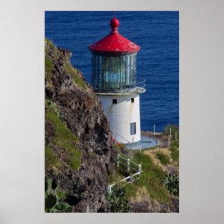 Küstenleuchtturm, Hawaii Poster