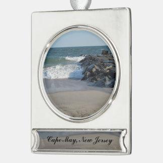 Küstenlinie Banner-Ornament Silber