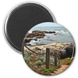 Küstenschritte zazzle runder magnet 5,1 cm