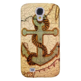 Küstenstrand-Seekarten-Vintager Anker Galaxy S4 Hülle