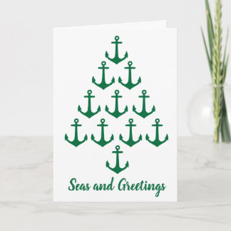 Coastal Beach Christmas Nautical Anchor Tree