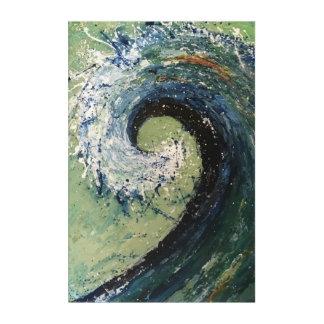 Küstenstrand-Wellen-Kunst-Malerei Acryldruck