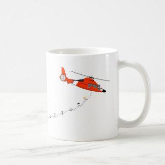 Küstenwache-Hubschrauber-Tasse Kaffeetasse