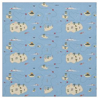 Küstenwache-Rettungs-Karten-Gewebe-Muster Stoff