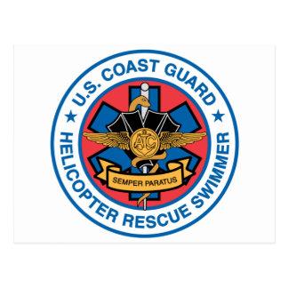 Küstenwache-Rettungs-Schwimmer Postkarte