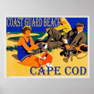 Küstenwache-Strand-Cape Cod-Plakat Poster