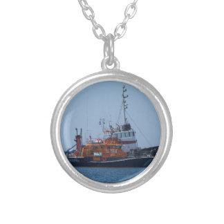Küstenwachen-Boot und Schlepper-Boot Versilberte Kette