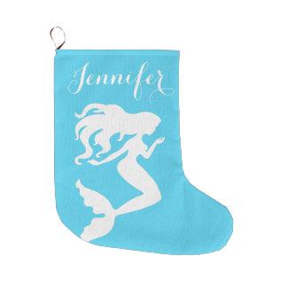 Küstenweihnachtsmeerjungfrau-Strumpf Großer Weihnachtsstrumpf