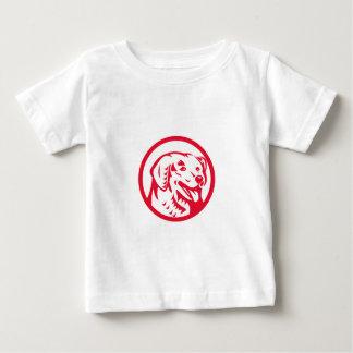 Kuvasz Hundekopf-Kreis Retro Baby T-shirt