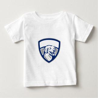Kuvasz Hundekopf-Wappen Retro Baby T-shirt