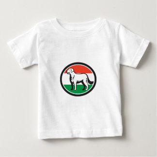 Kuvasz Hundeungarische Flaggen-ovales Retro Baby T-shirt