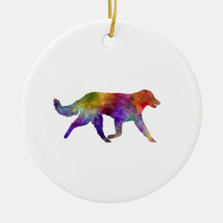 Kuvasz in Watercolor 2 Keramik Ornament