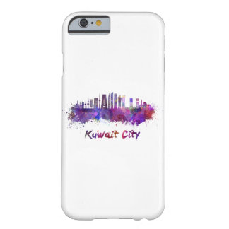 Kuwait City V2 skyline im Watercolor Barely There iPhone 6 Hülle