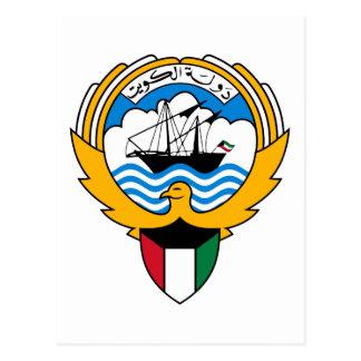 Kuwait-Emblem Postkarte