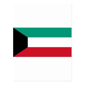 Kuwait-Flagge Postkarte