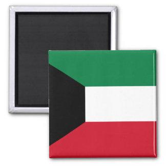 Kuwait-Flagge Quadratischer Magnet