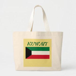 Kuwait-Flaggen-kundenspezifische Taschen-Tasche Jumbo Stoffbeutel