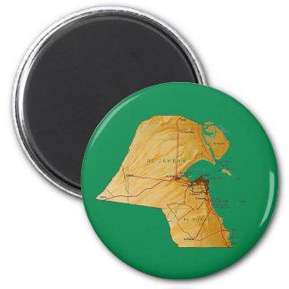 Kuwait-Karten-Magnet Runder Magnet 5,7 Cm