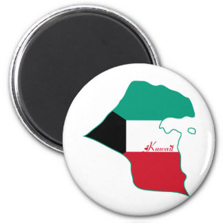 Kuwait-Magnet Runder Magnet 5,7 Cm