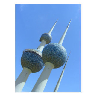 Kuwait ragt das Symbol von Kuwait hoch Postkarte