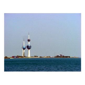 Kuwait ragt Meerblick hoch Postkarte