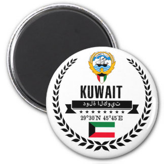 Kuwait Runder Magnet 5,7 Cm