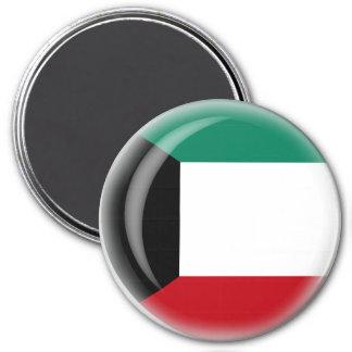 Kuwait Runder Magnet 7,6 Cm