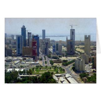 Kuwait-Stadt, Vogelperspektive Karte