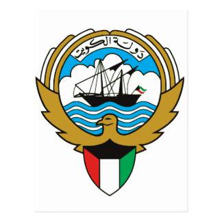 Kuwait-Wappen Postkarte