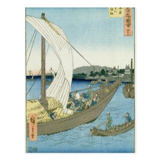 Kuwana Landschaft, von '53 berühmten Ansichten Postkarte