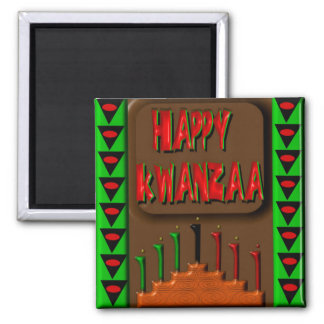 Kwanzaa 5 quadratischer magnet
