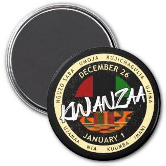 Kwanzaa 7 Prinzipien Runder Magnet 7,6 Cm