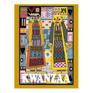 Kwanzaa - afrikanische Charaktere Postkarte