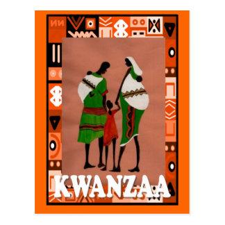 Kwanzaa - afrikanische Familie Postkarte
