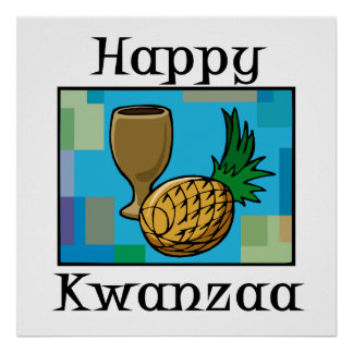 Kwanzaa-Ananas Plakatdruck