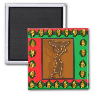 Kwanzaa-Angebot Quadratischer Magnet