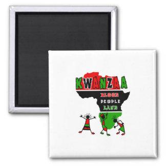 Kwanzaa-Blut-Leute-Land Magnete