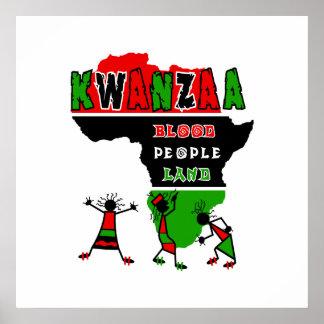 Kwanzaa-Blut-Leute-Land Plakatdrucke